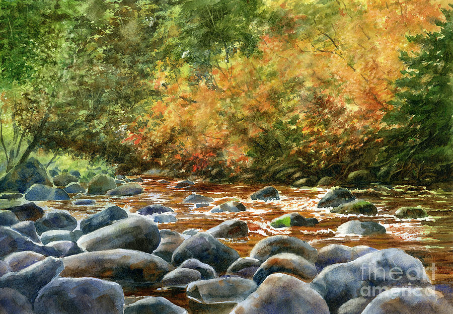 Autumn River Rocks 2