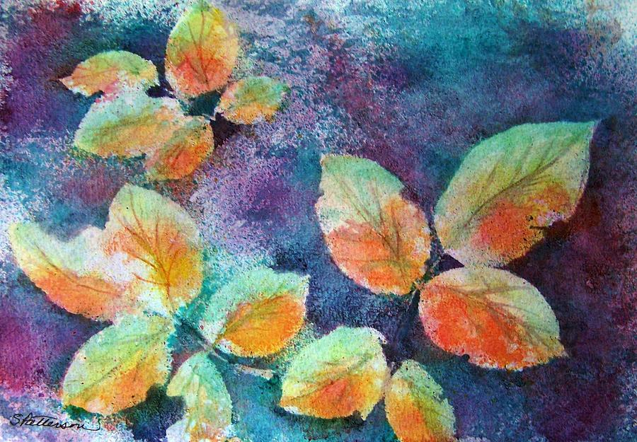 Rose Painting - Autumn Rose Leaves by Sherri Patterson
