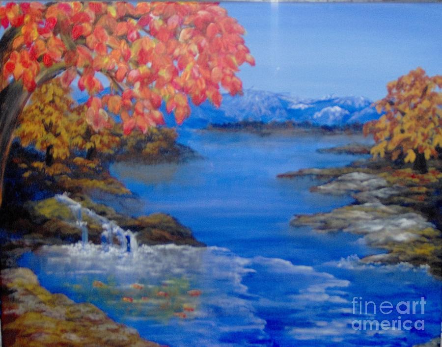 Trees Painting - Autumn by Saundra Johnson