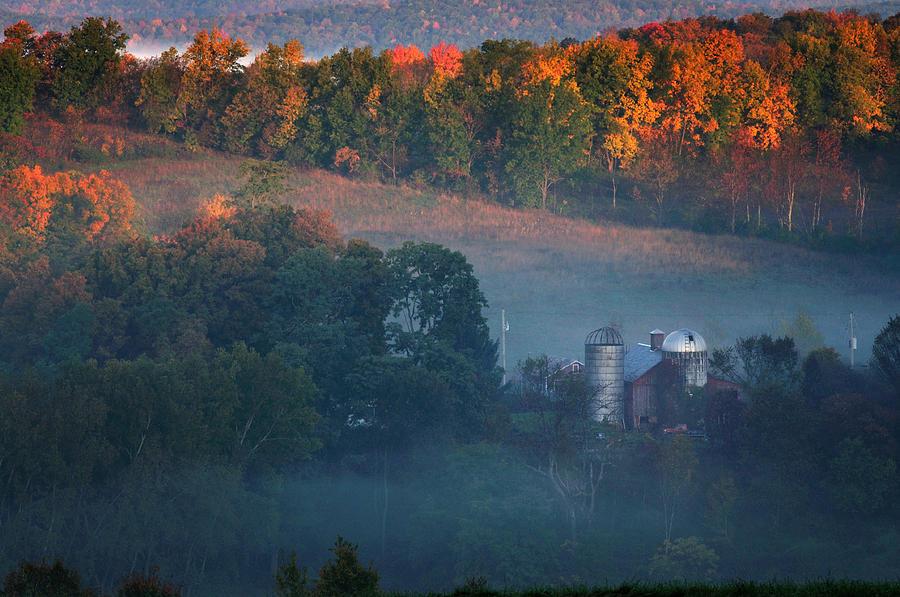 Vermont Photograph - Autumn Scenic - West Rupert Vermont by Thomas Schoeller