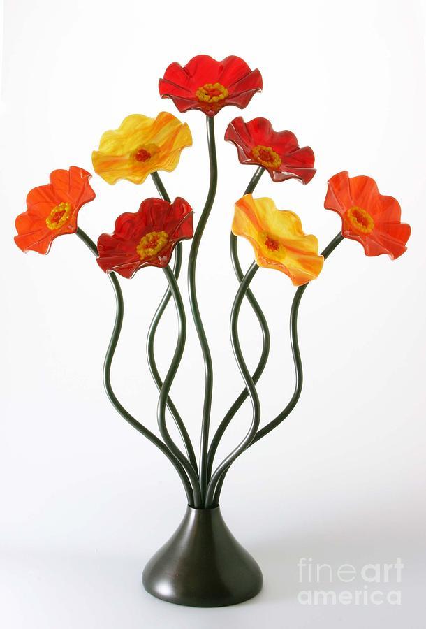 Glass Flowers Sculpture - Autumn by Scott Johnson