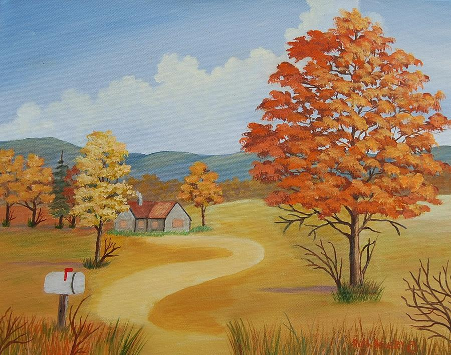 autumn season painting by ruth housley