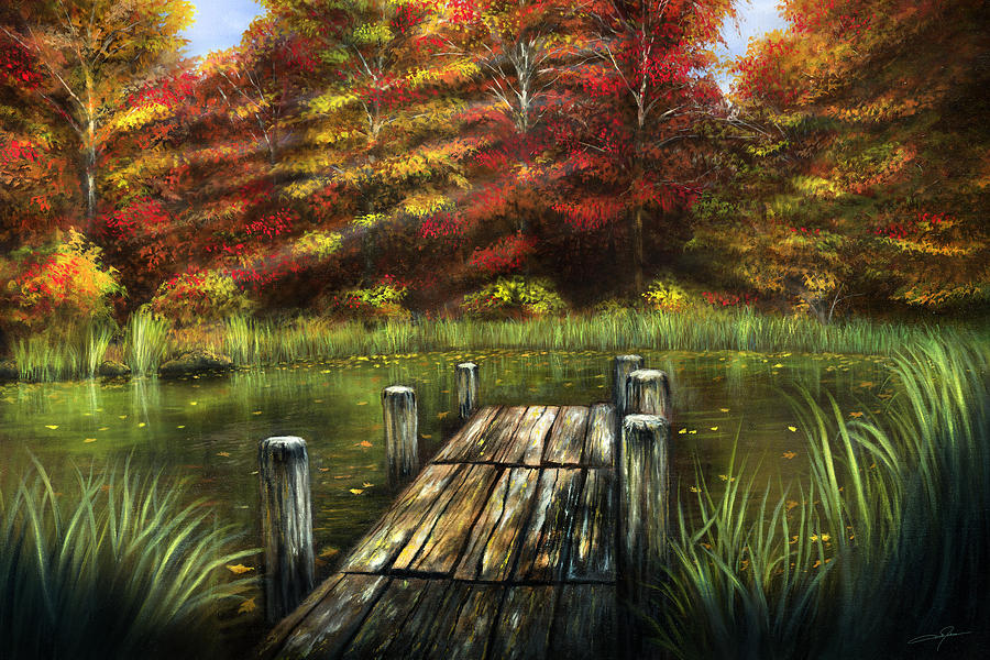 Autumn Painting - Autumn Serenity by Dale Jackson