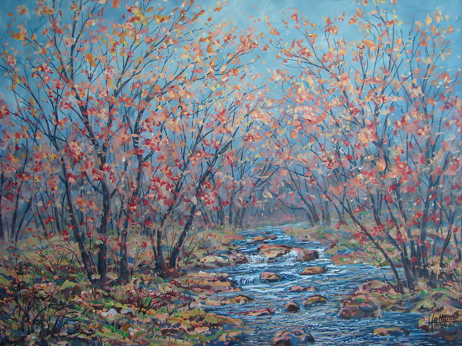 Landscape Painting - Autumn Serenity by Leonard Holland