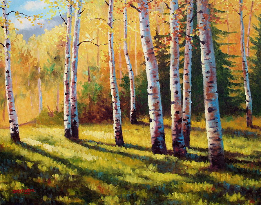 Landscape Painting - Autumn Shade by David G Paul