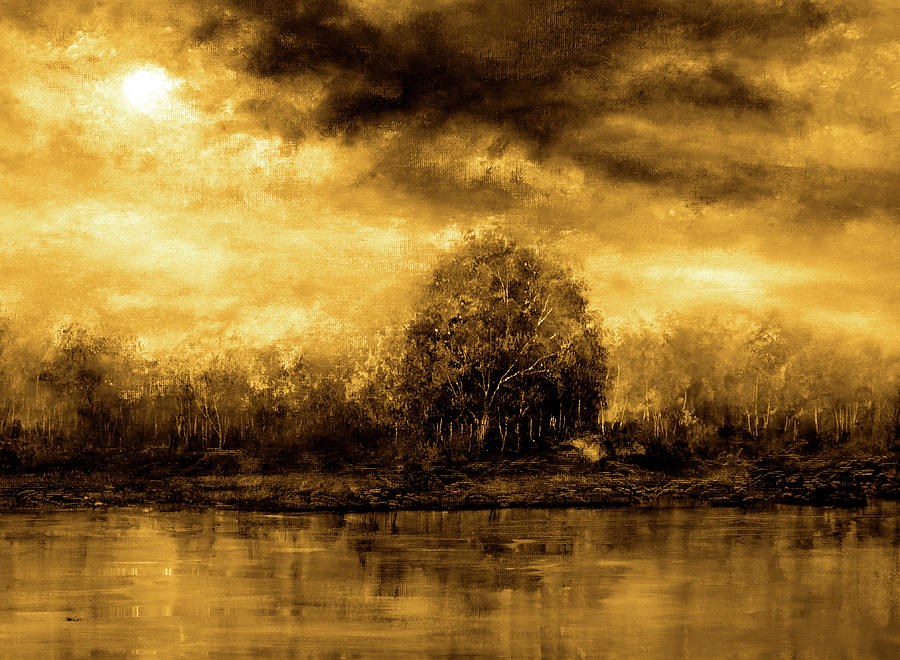 Autumn Painting - Autumn Skies by Ann Marie Bone