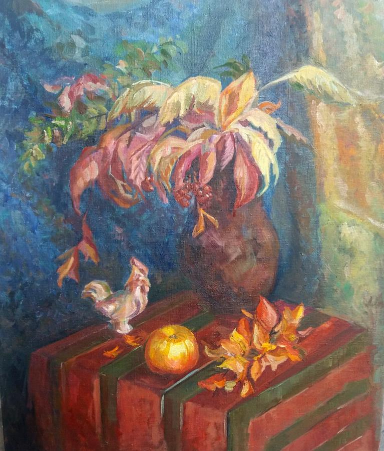 Autumn Painting - Autumn Still Life by Kateryna Kostiuk-Shostka