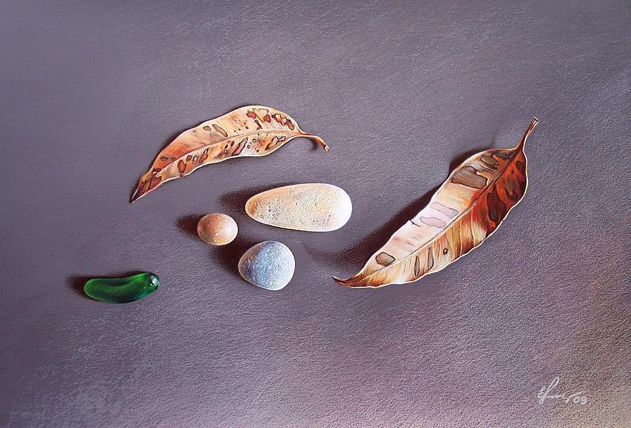 Still Life Drawing - Autumn Still Life by Elena Kolotusha