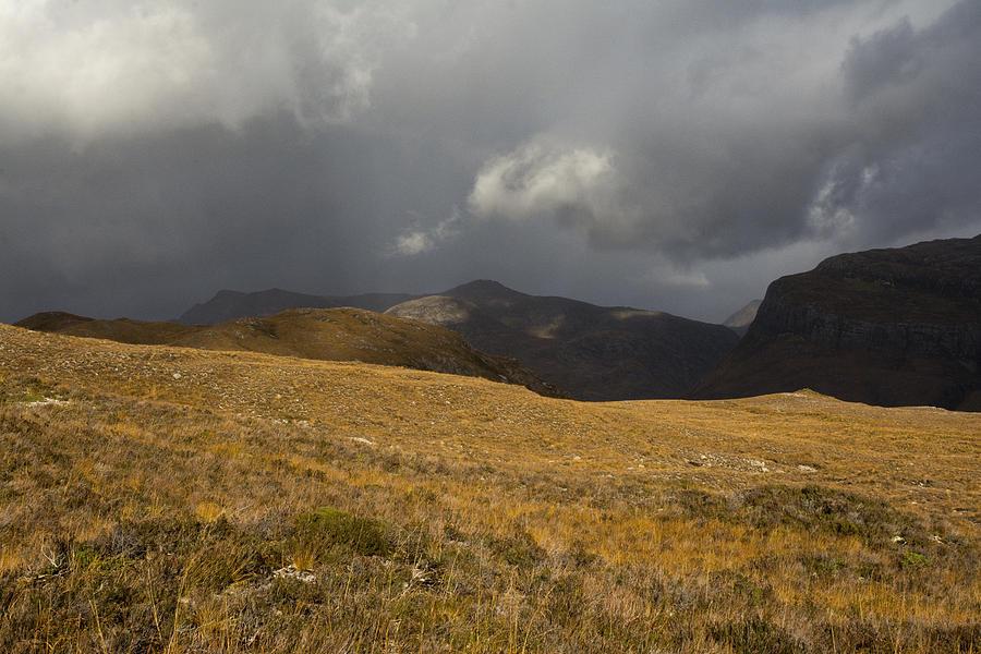 Beinn Eighe Photograph - Autumn Storm by Sue Arber