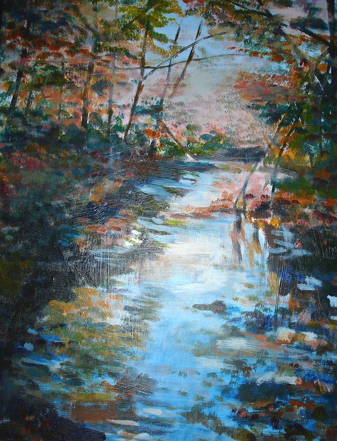 Landscape Painting - Autumn Stream by Joyce Kanyuk