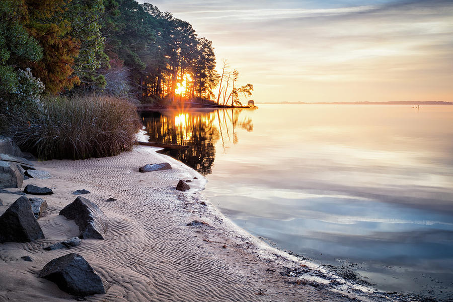Jamestown Photograph - Autumn Sunrise by Lisa McStamp