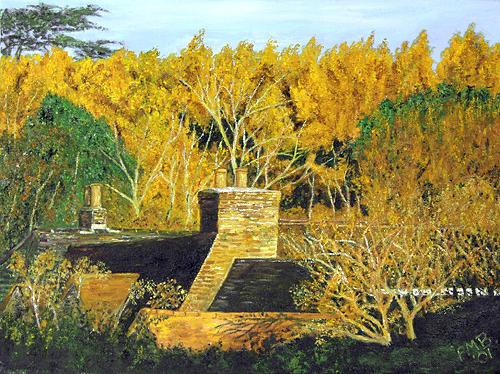 Landscape Painting - Autumn Sunrise by Peter Mark Butler