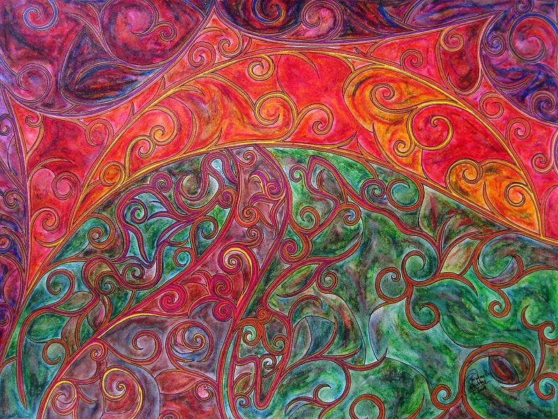 Autumn Painting - Autumn Sunset by Christine Bonnie Ghattas