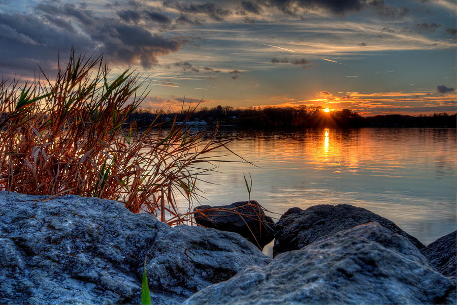 Autumn Sunset by David Dufresne