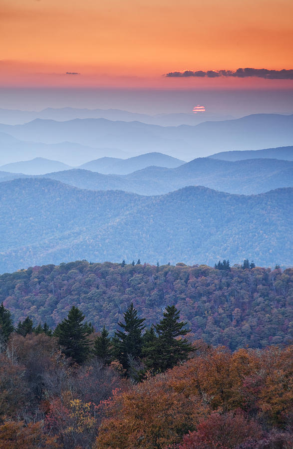 Mountains Photograph - Autumn Sunset On The Parkway by Rob Travis