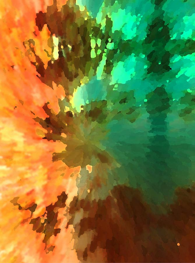 Abstract Painting - Autumn Surprise by Florene Welebny