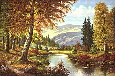 Autumn Symphony  Painting by Suleyman Mavruk