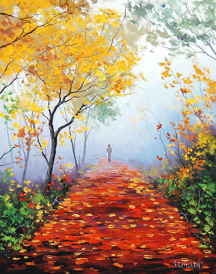 Fall Painting - Autumn Trail by Graham Gercken