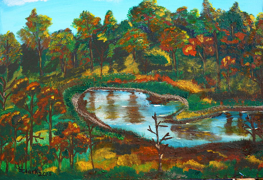 Autumn Trees in Virginia Painting by Jimmy Clark