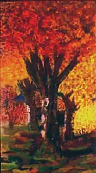Autumn Trees Painting - Autumn Trees by Tanna Lee M Wells