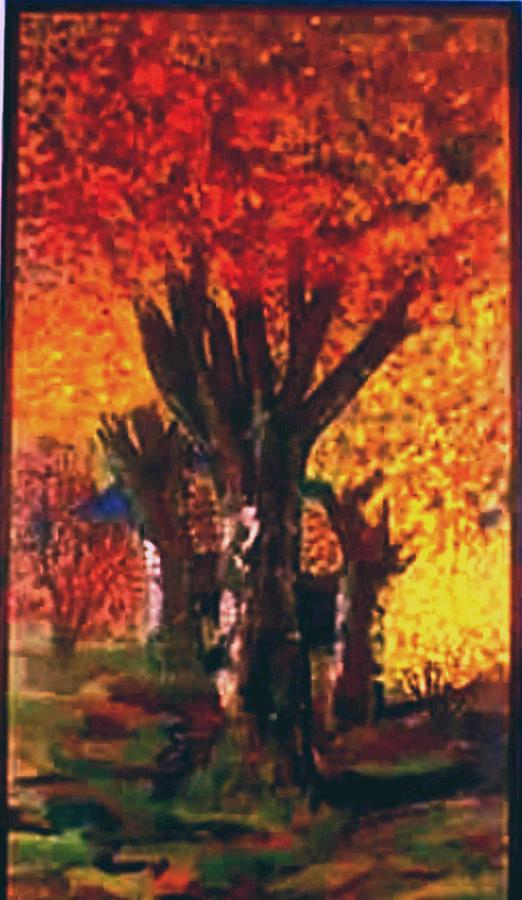 Landscape Painting - Autumn Trees by Tanna Lee Wells