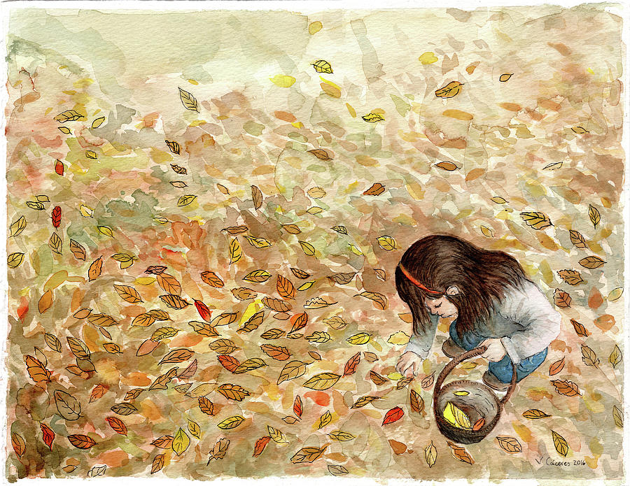 Autumn Painting - Autumn  by Valentina Caceres