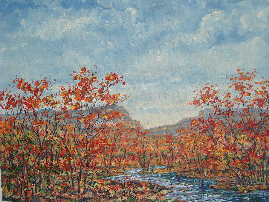 Paintings Painting - Autumn View. by Leonard Holland