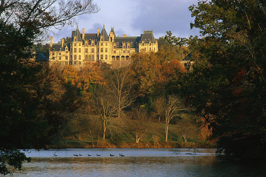 North America Photograph - Autumn View Of The Biltmore by Melissa Farlow
