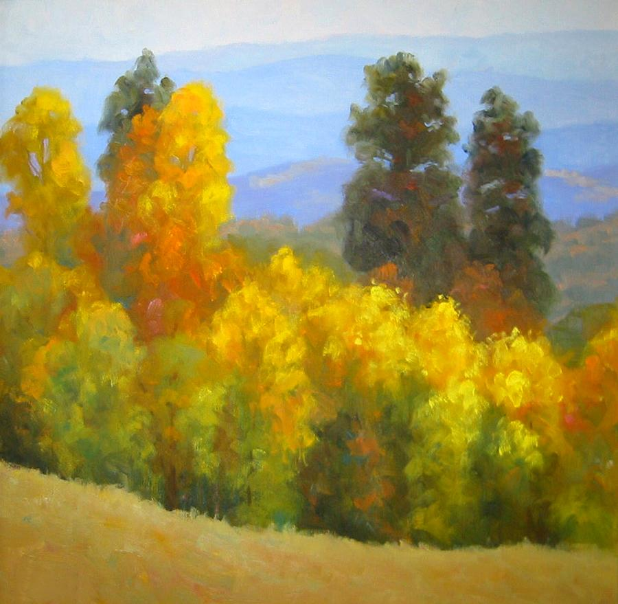Autumn Painting - Autumn Vista by Bunny Oliver
