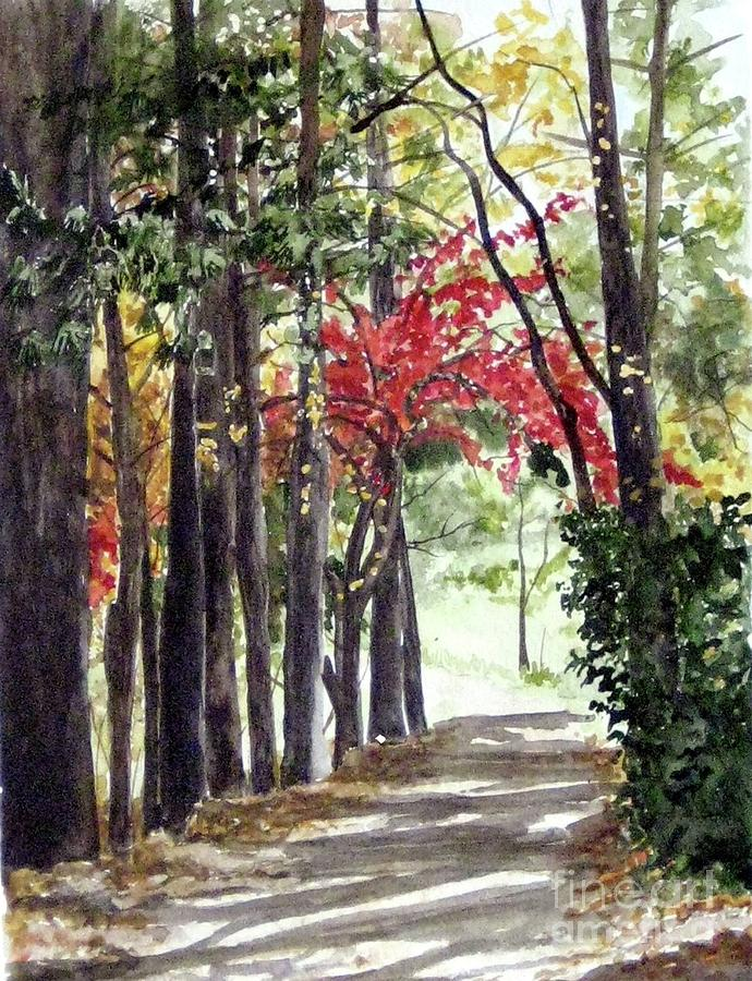 Trees Painting - Autumn Walk by Carla Dabney