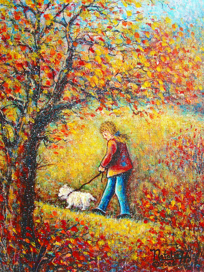 Landscape Painting - Autumn Walk  by Natalie Holland