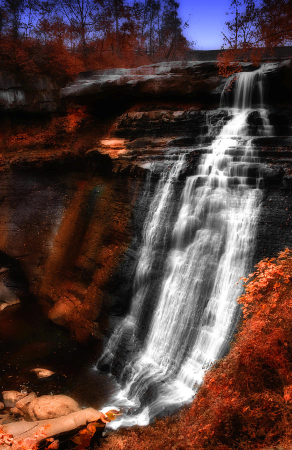 Autumn Waterfall 3 Photograph