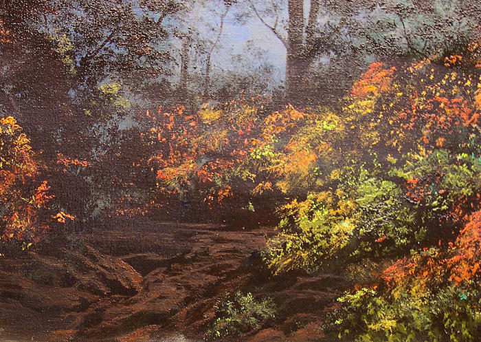 Hudson River School Painting - Autumn Woods by Connie Tom
