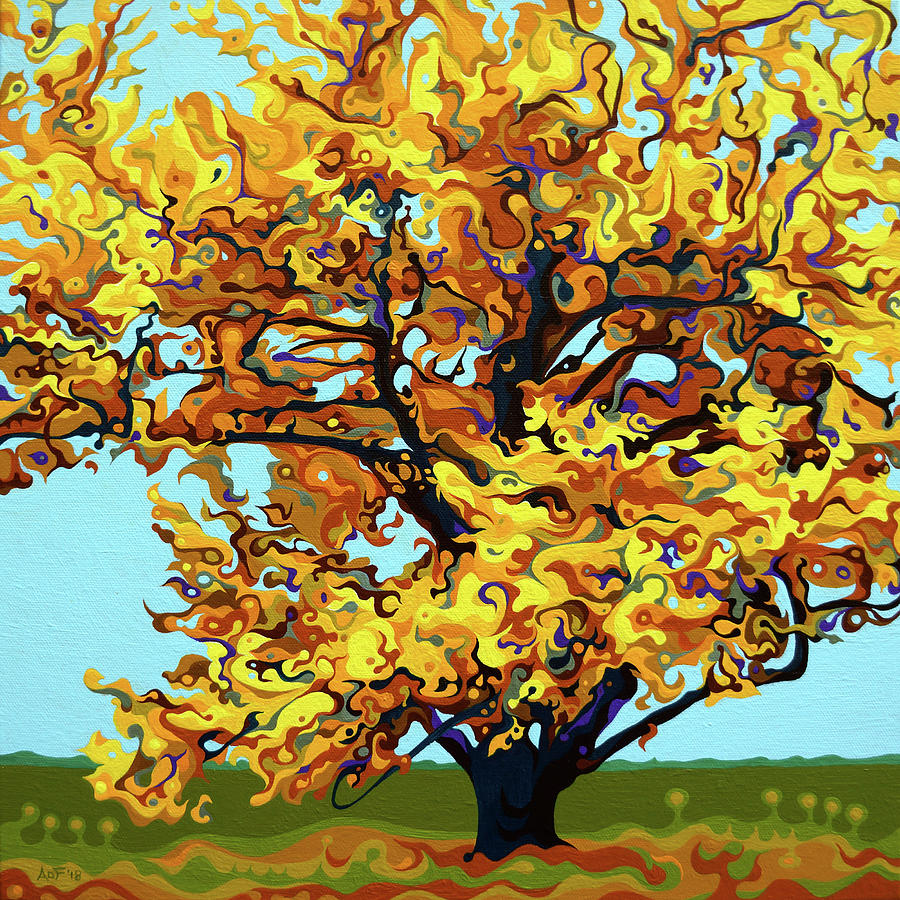 Autumnal Yellow Treet by Amy Ferrari