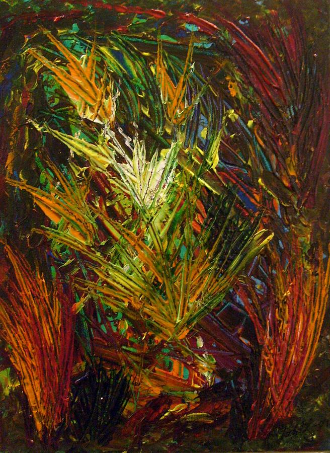 Abstract Painting - Autumnfire by Katarina Cinnamon Jahlitz