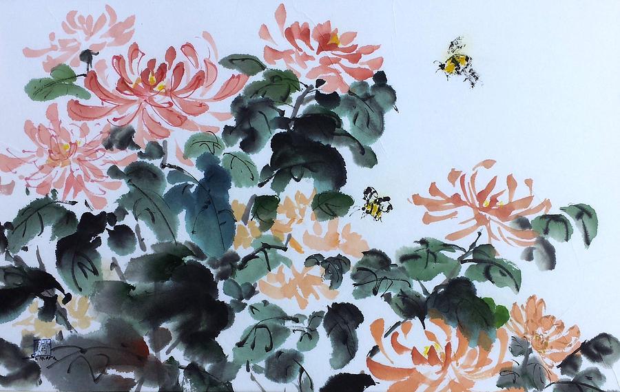 Autumn's Buzz by Laurie Samara-Schlageter