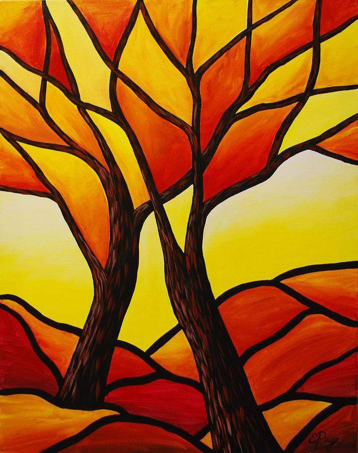 Tree Painting - Autumns Majesty by Emily Page