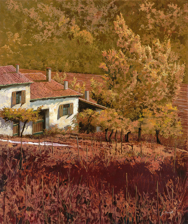 Autumn Painting - Autunno Rosso by Guido Borelli
