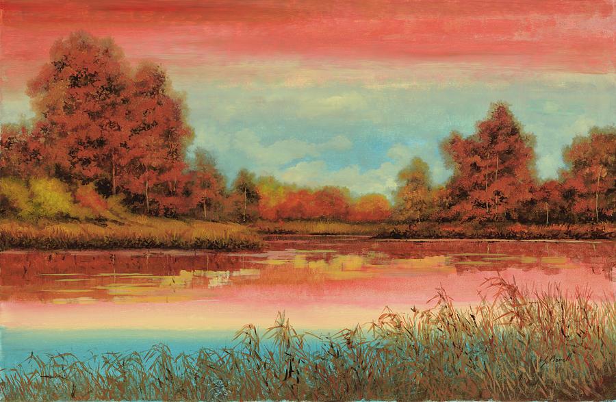 Fall Painting - Autunno Sul Lago by Guido Borelli