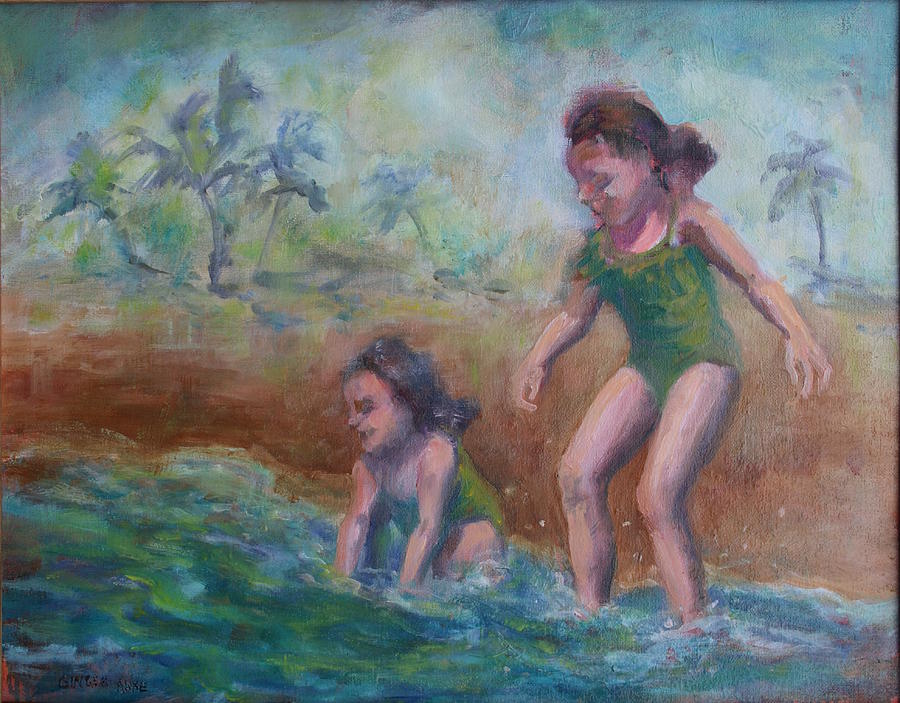 Hawaii Painting - Ava And Friend by Ginger Sandell
