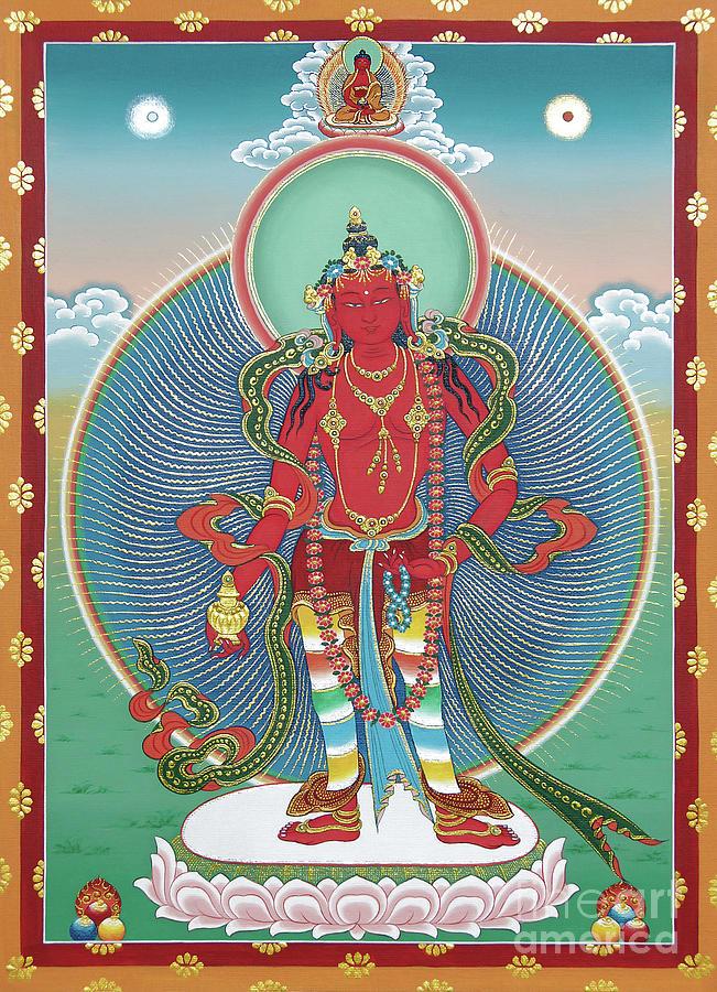Amitabha Painting - Avalokiteshvara Korwa Tongtrug by Sergey Noskov