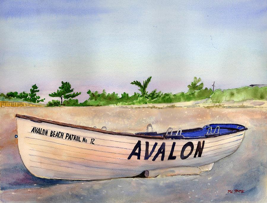 Seascape Painting - Avalon Beach Patrol by Paul Temple
