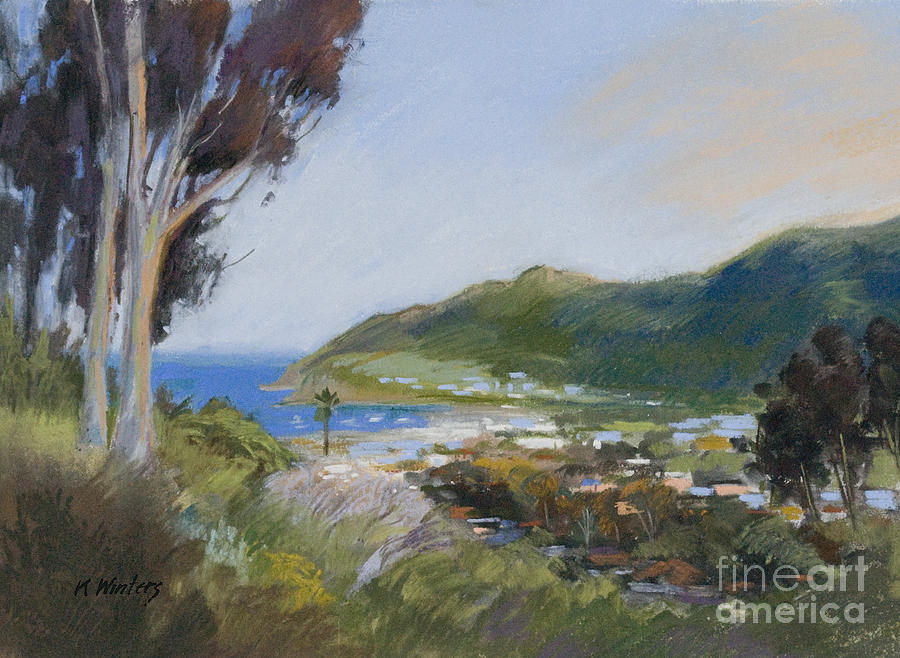 Catalina Painting - Avalon Harbor - Taking The High Road Catalina Island Oil Painting by Karen Winters