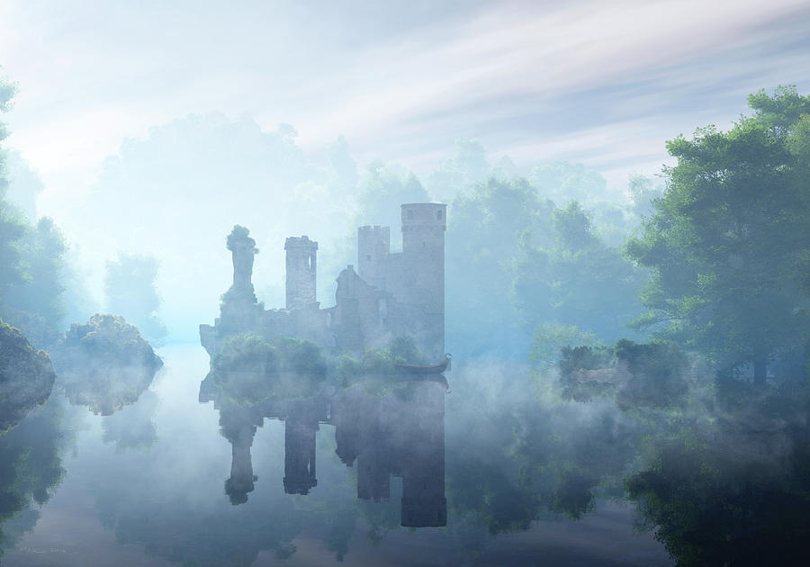 Fantasy Landscapes Digital Art - Avalon by Melissa Krauss