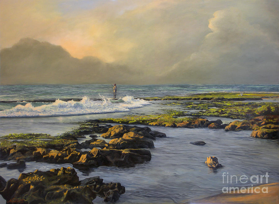 Seascapes Painting - Avalon Point by Jeanne Newton Schoborg