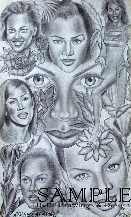 Portraits Drawing - Avanessafacad by Rick Hill