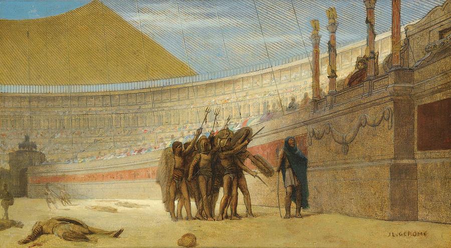 Ave Caesar Morituri Te Salutant Painting By Jean Leon Gerome