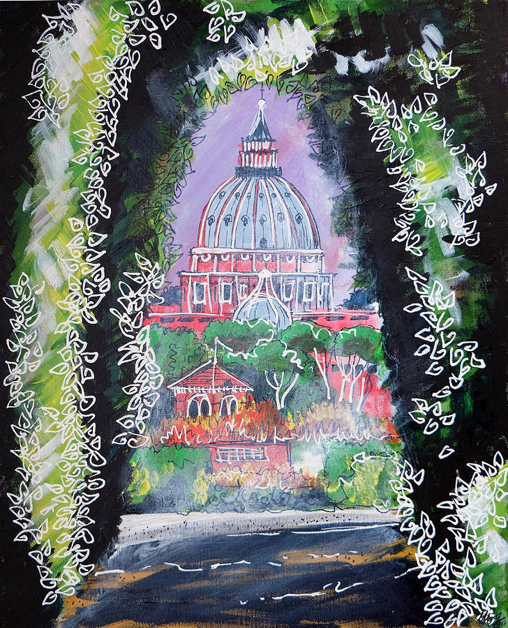 Aventine Hill Painting - Aventine Keyhole by Laura Hol Art