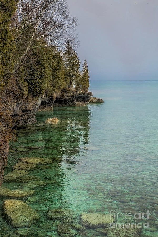 Aventurine Waters - Cave Point Photograph