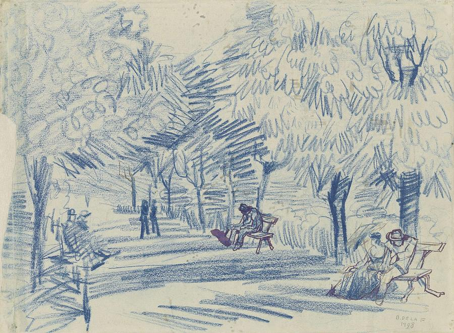 Nature Painting - Avenue In A Park Arles, May 1888 Vincent Van Gogh 1853 - 1890 by Artistic Panda